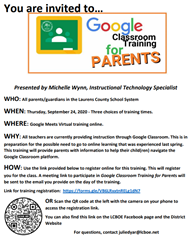 Google Parent training flyer