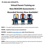 Beacon Parent Training Flyer
