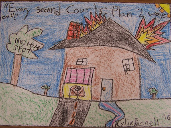 Fire Safety Poster Contest - 3rd Place