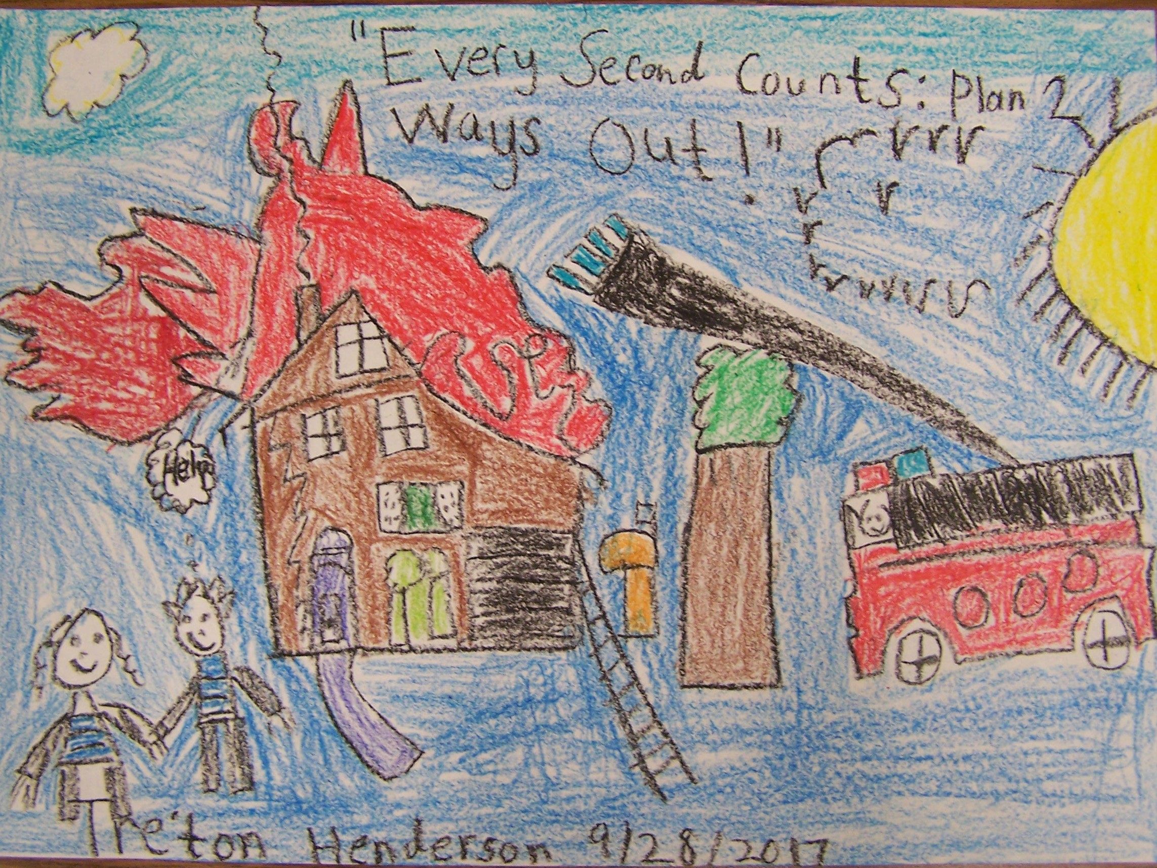 Fire Safety Poster Contest - 1st Place (Tre'ton Henderson)