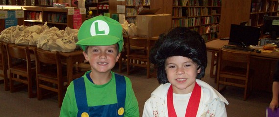Book Character Day - Mario & Elvis!