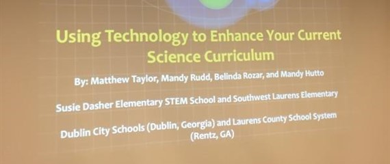 Teachers Mandy Hutto & Belinda Rozar  presenting at the Science Conference!