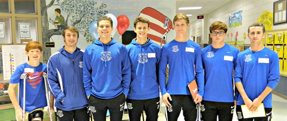 "The WLHS Soccer team joined in on ""Read Across America Day"" at SWLE!"