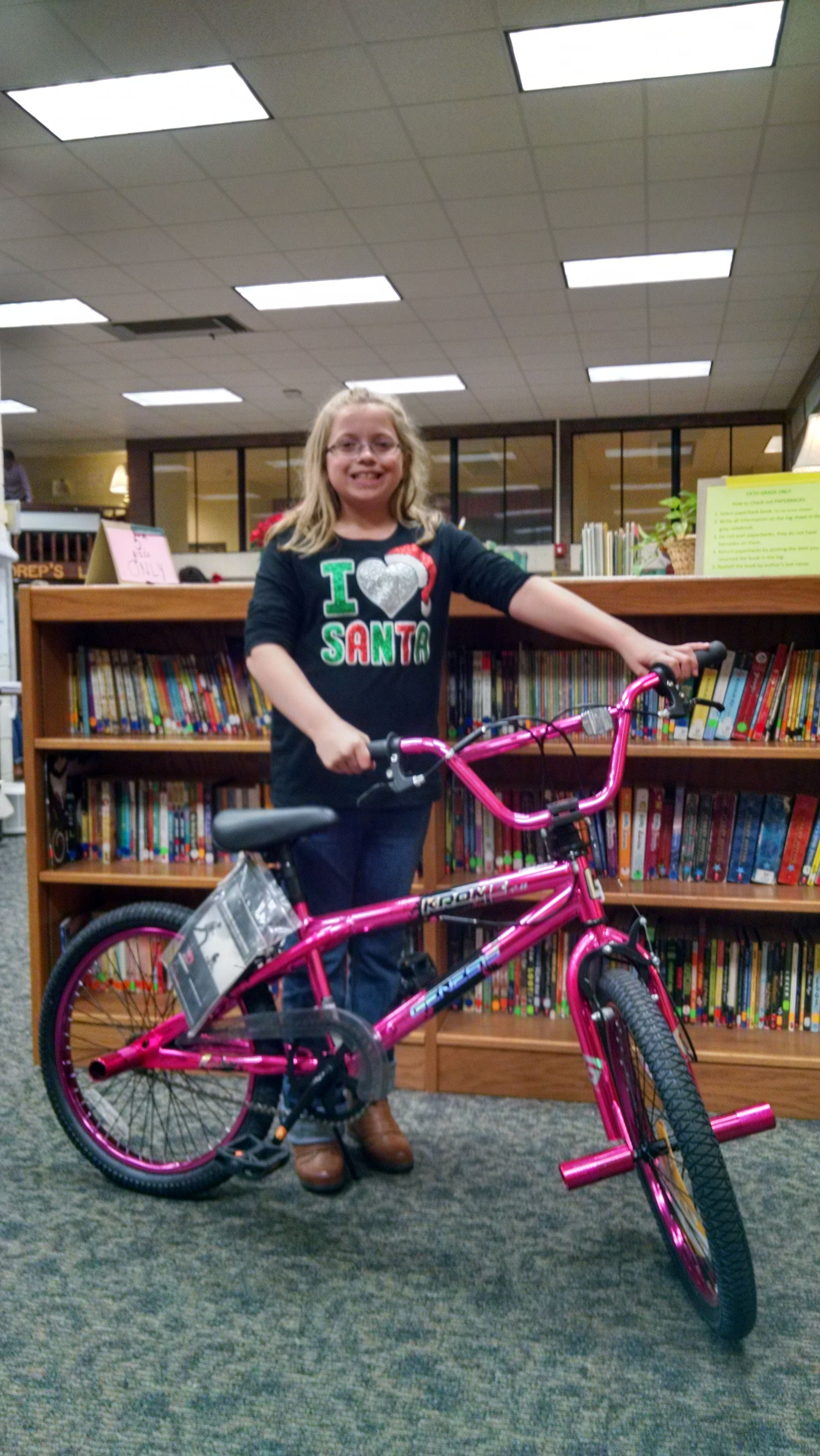 Bike Winners at Literacy Night